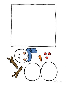 3D Snowman Classroom Craft
