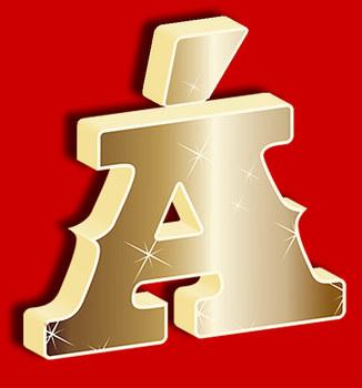 3D Solid Gold Alphabet 91 Glyphs • Spanish Letters • Hi-Res PDF & PNGs