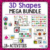 3D Solid Shape Pack | Kindergarten Math Centers