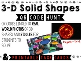 Identifying 3D Solid Shapes {with real world photos}- QR Code Hunt and more!