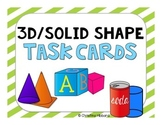 3D/Solid Shape Task Cards