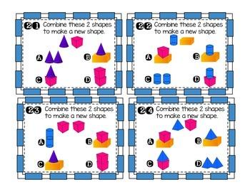 3D/Solid Shape Task Cards