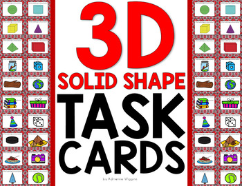 3D Solid Shape Task Cards