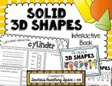 3D / Solid Shapes Interactive Book --- Exploring 3D Shapes