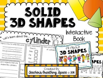 3D / Solid Shapes Interactive Book --- Exploring 3D Shapes