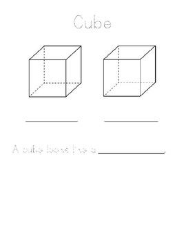 3D Solid Shapes Math Center activity!