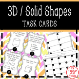 3D/Solid Shapes Task Cards