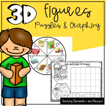 3D Solids {Puzzles & Graphing Activities}