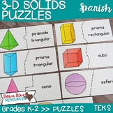 3D Solids Puzzles | Three-Dimensional Solids| Geometry TEK