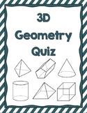 3D Solids Quiz