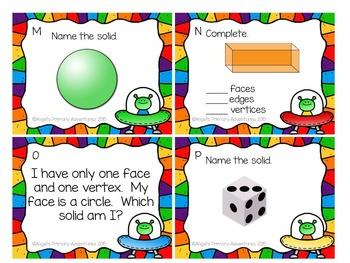 3D Solids Task Cards