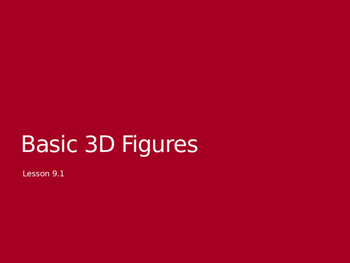 3D Solids Vocabulary Slides