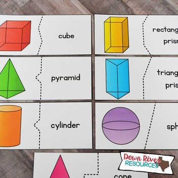 3D Solids and Their Attributes Puzzles | Three-Dimensional Solids | Geometry