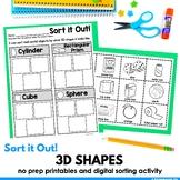 3D Shapes Sort