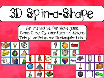 3D Shape Game: Everyday Objects (Shape Center)