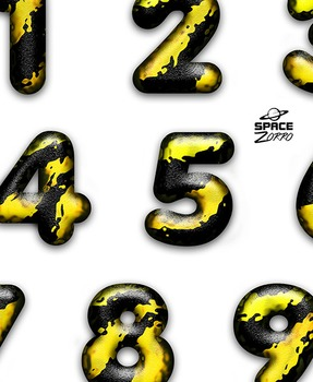 3D Splatter Digits / Numbers  (images)