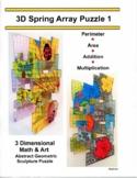 3D Spring Composite / Irregular Shape Array Puzzle Craft, Perimeter & Area