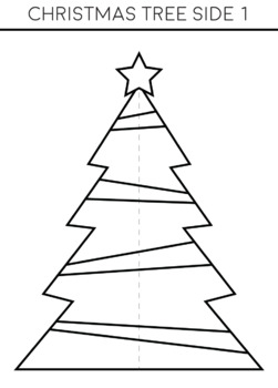 3D Standing Christmas Tree Template - Christmas Craft Activity