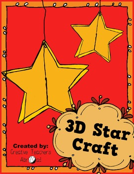 3D Star Classroom Craft