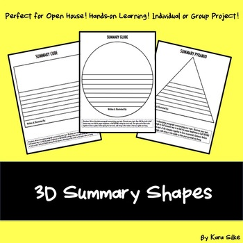 Mobiles: 3D Summary Shapes