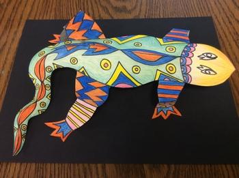 3D Symmetrical Lizard Sculptures