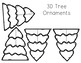 3D Christmas Table Decorations/Tree Ornaments: Trees, ornaments, presents