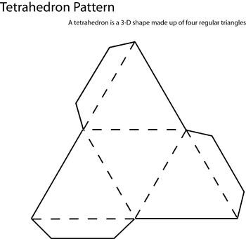 3d Tetrahedron Pattern By Debra Cline Teachers Pay Teachers