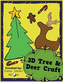3D Tree & Reindeer Classroom Craft