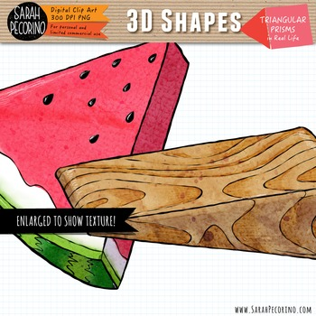 3D Triangular Prisms in Real Life Clip Art