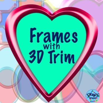 Clip Art Frames with 3D trim