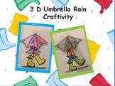 3D Umbrella Rain Craftivity
