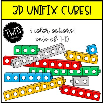 3d Unifix Cube Clip Art By Teaching With Mrs Stober Tpt