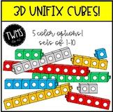 3D Unifix Cube Clip Art