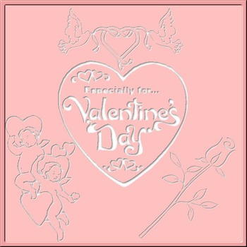 3D Valentine Cut-Outs: Hearts, Cupids, Roses, Love-Birds Clip Art 20 PNGs