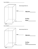 3D Volume and Surface Area Activity (Google slides)