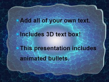 3D WAVES POWERPOINT TEMPLATE