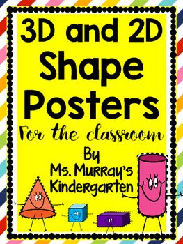 3D and 2D Shapes Posters