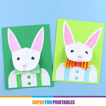 3D bunny paper craft