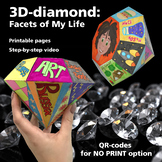 3D-diamond: Facets of My Life / All About Me Activity With