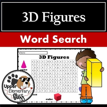 3D figures word search