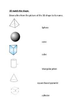 3D match the shape.