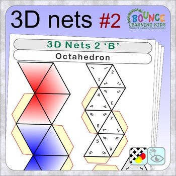 3D shapes 2 (16 distance learning worksheets for Hand-eye coordination)