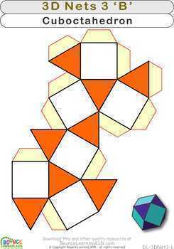 3D shapes 3 (14 distance learning worksheets for Hand-eye coordination)