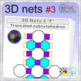 3D shapes 3 (14 distance learning templates for folding archimedes solids)