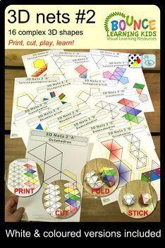 3D nets bundle (48 Hand-eye coordination sheets)