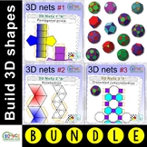3D shapes bundle (48 distance learning templates for 3D &
