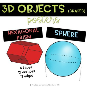 3D objects (shapes) posters
