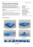 3D printing: Puzzle projects for classroom 3D design and printing