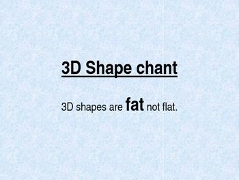 3D Shape chant