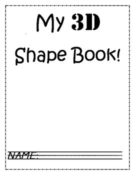 3D shape book